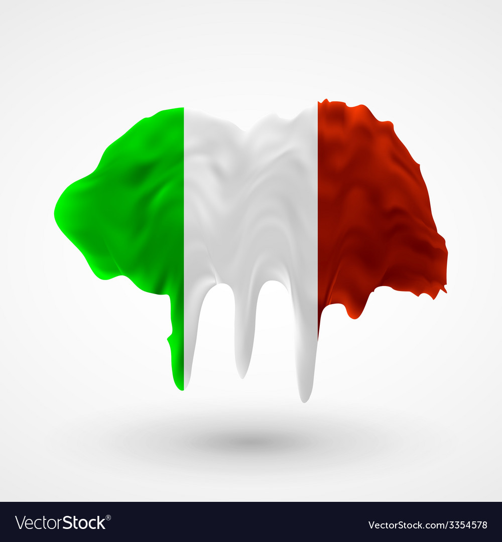 Flag of italy painted colors vector | Price: 3 Credit (USD $3)