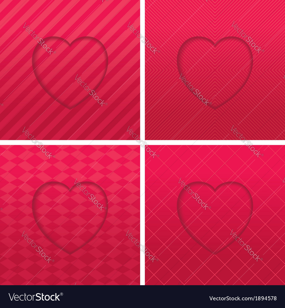 Geometric hearts set vector | Price: 1 Credit (USD $1)