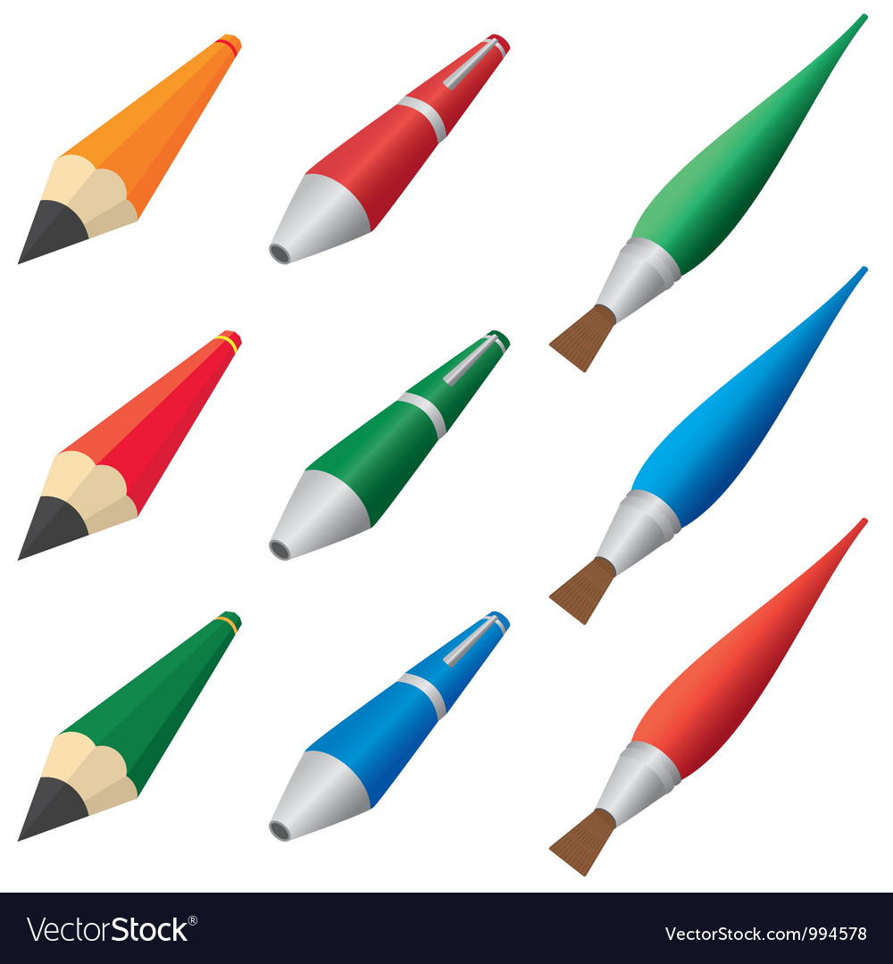 Pens and pencils vector   Price: 1 Credit (USD $1)