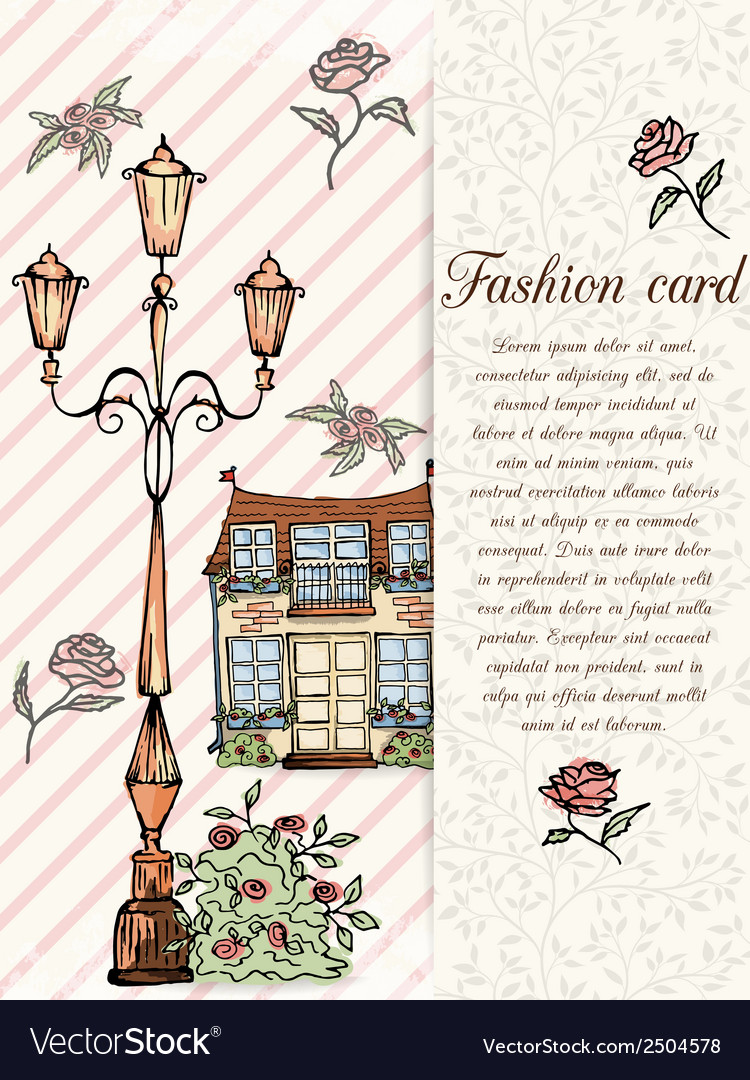 Retro hand drawn design card vector | Price: 1 Credit (USD $1)
