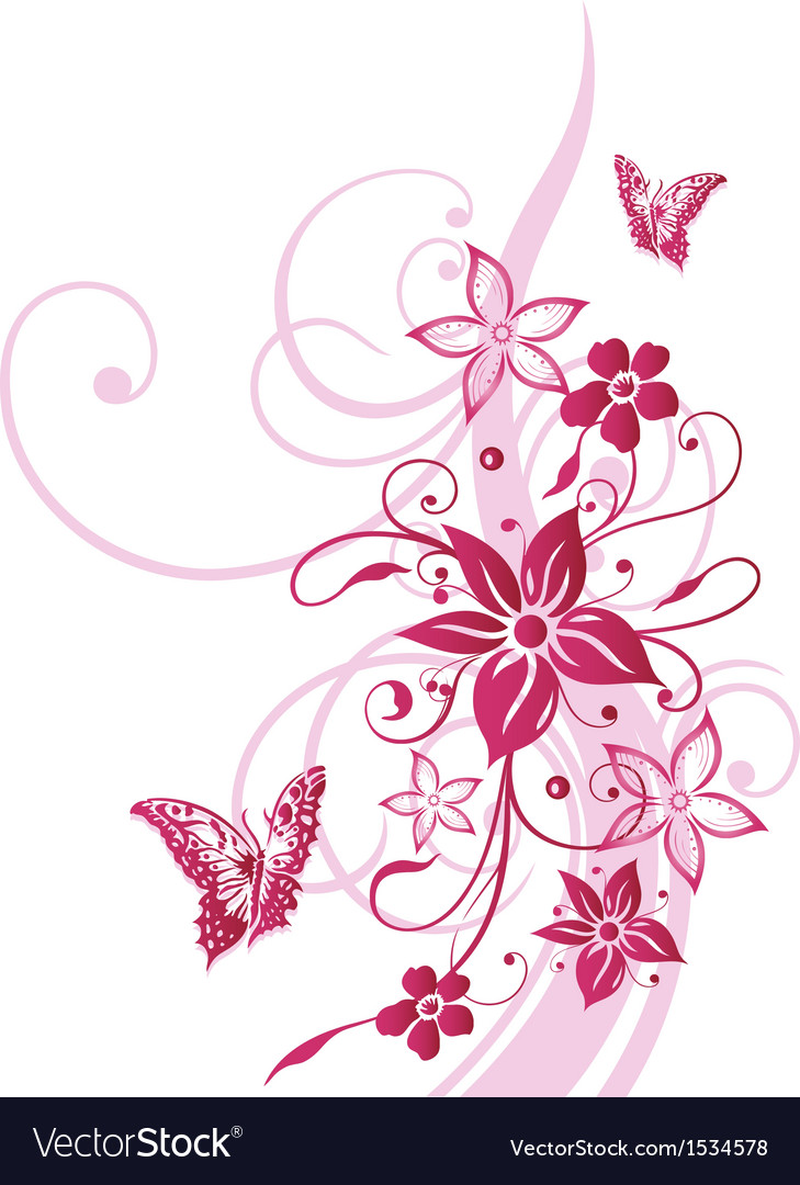 Tendril floral elements vector | Price: 1 Credit (USD $1)