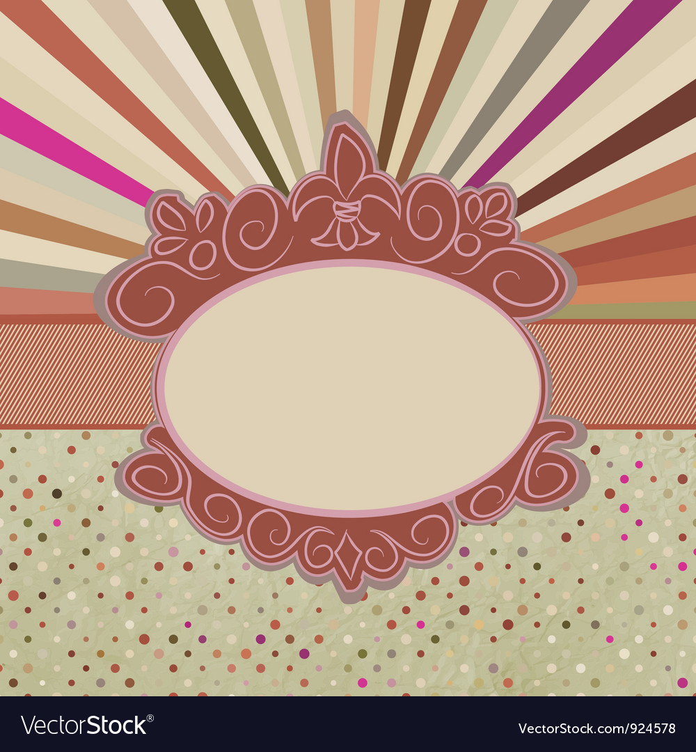 Vintage sun burst card vector | Price: 1 Credit (USD $1)