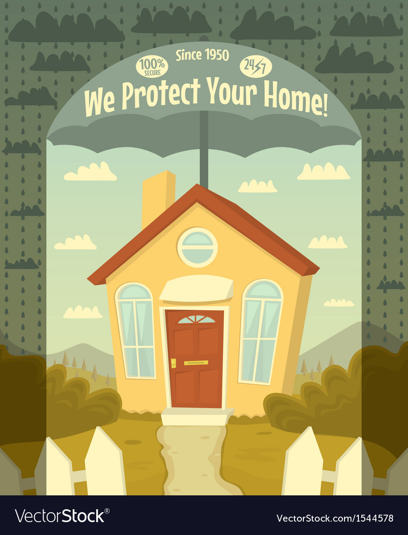 We protect your home vector | Price: 3 Credit (USD $3)