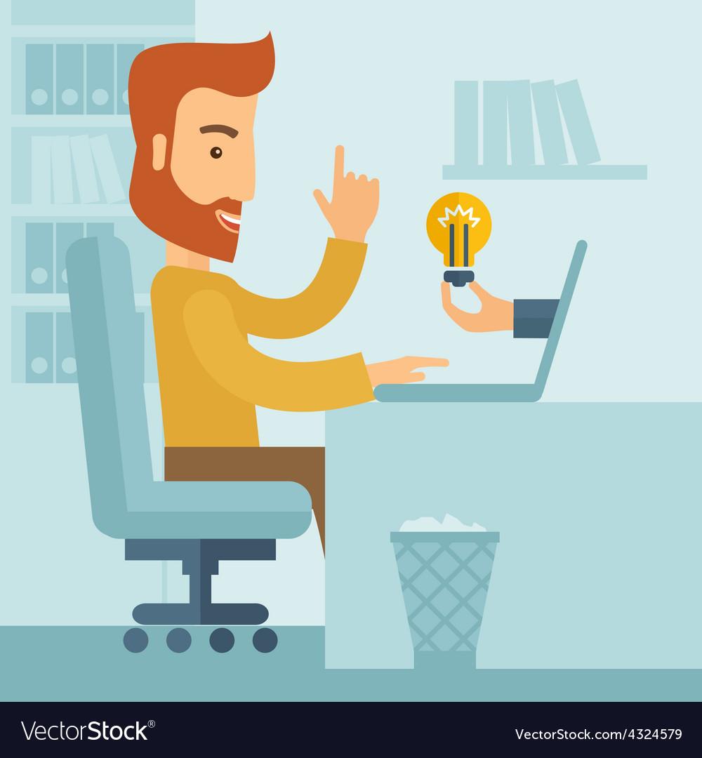 Businessman working vector | Price: 1 Credit (USD $1)
