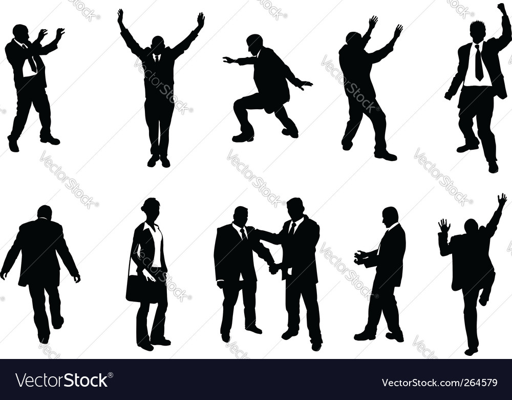 Busniess people silhouettes vector | Price: 1 Credit (USD $1)