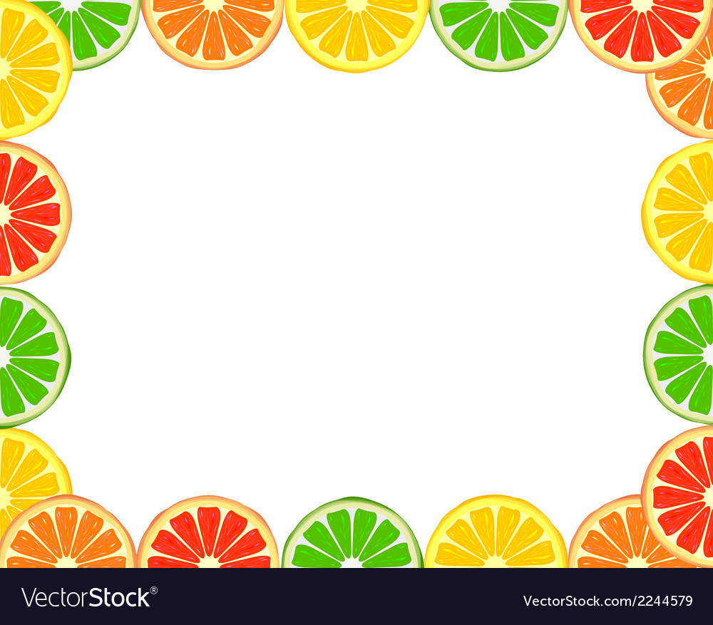 Citrus frame vector | Price: 1 Credit (USD $1)