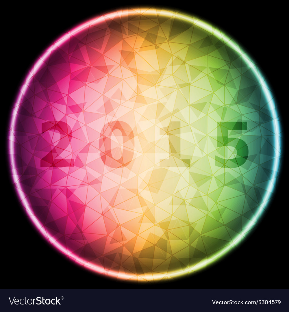 Design magic ring with 2015 background vector | Price: 1 Credit (USD $1)