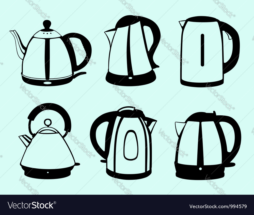 Kettle set vector | Price: 1 Credit (USD $1)