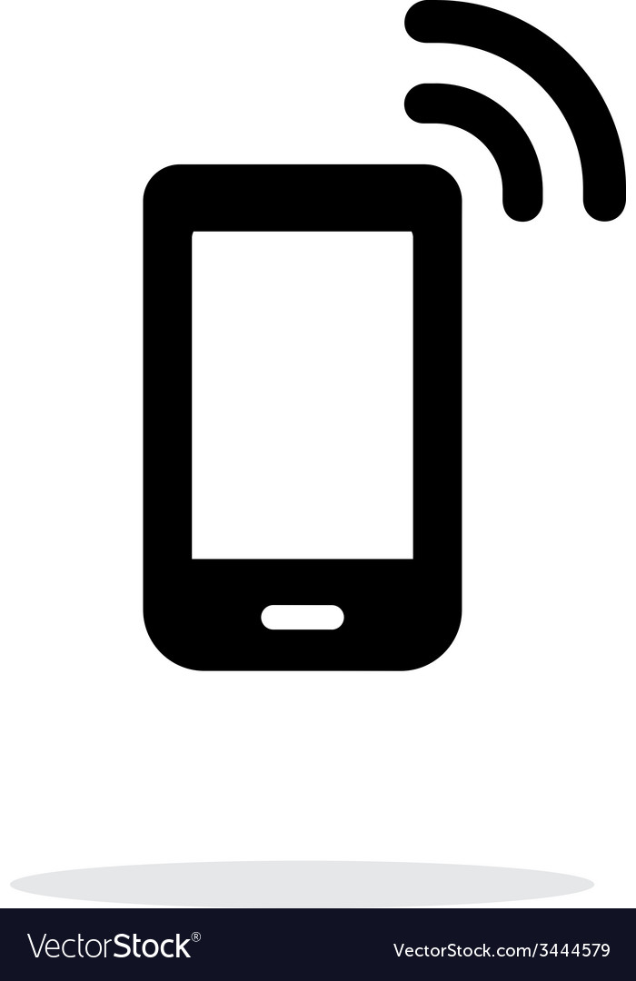 Phone icon on white background vector | Price: 1 Credit (USD $1)
