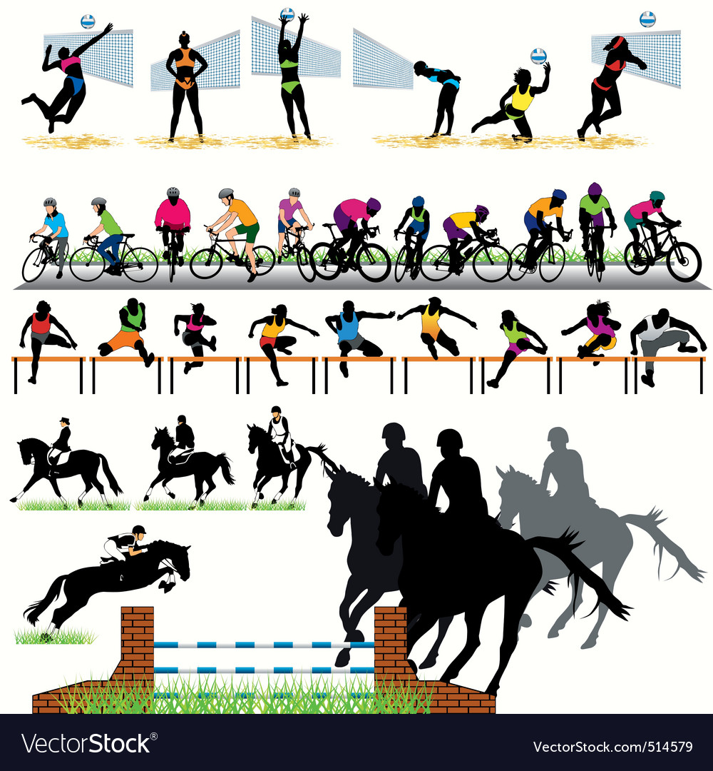 Sports silhouettes vector | Price: 1 Credit (USD $1)