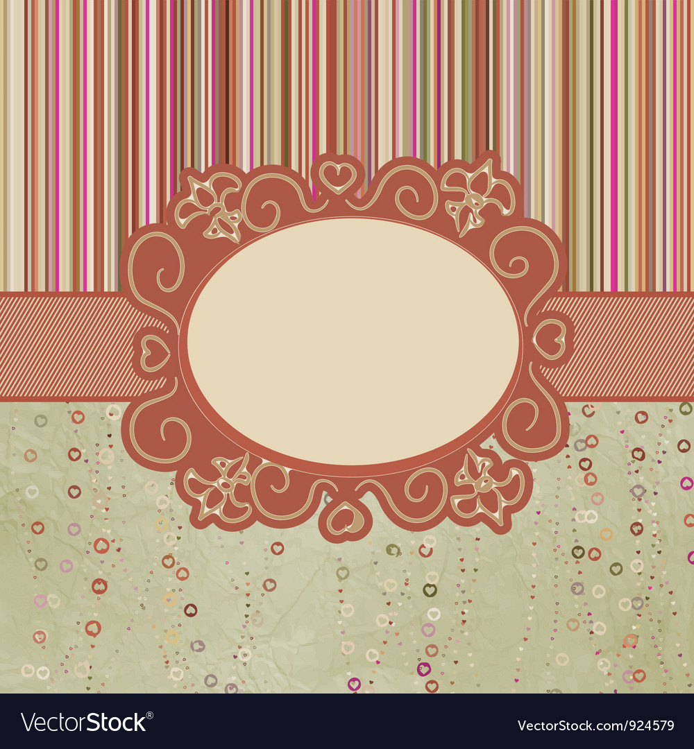 Template frame design for greeting card eps 8 vector | Price: 1 Credit (USD $1)