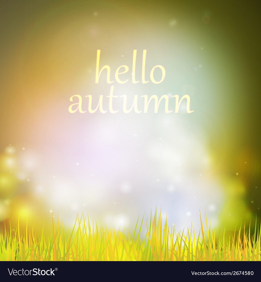 Autumn or summer abstract nature background vector | Price: 1 Credit (USD $1)