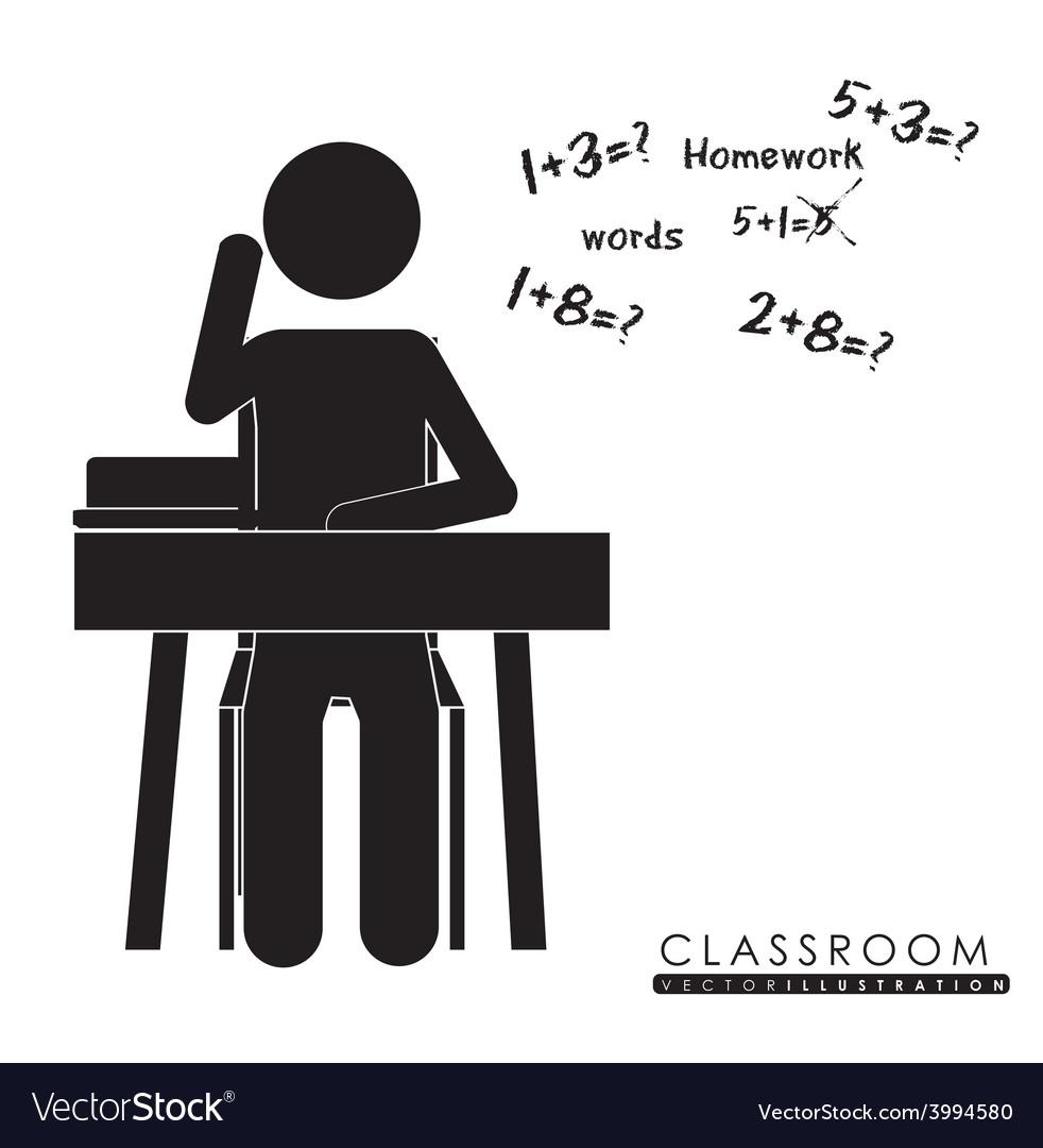 Class room desing vector | Price: 1 Credit (USD $1)