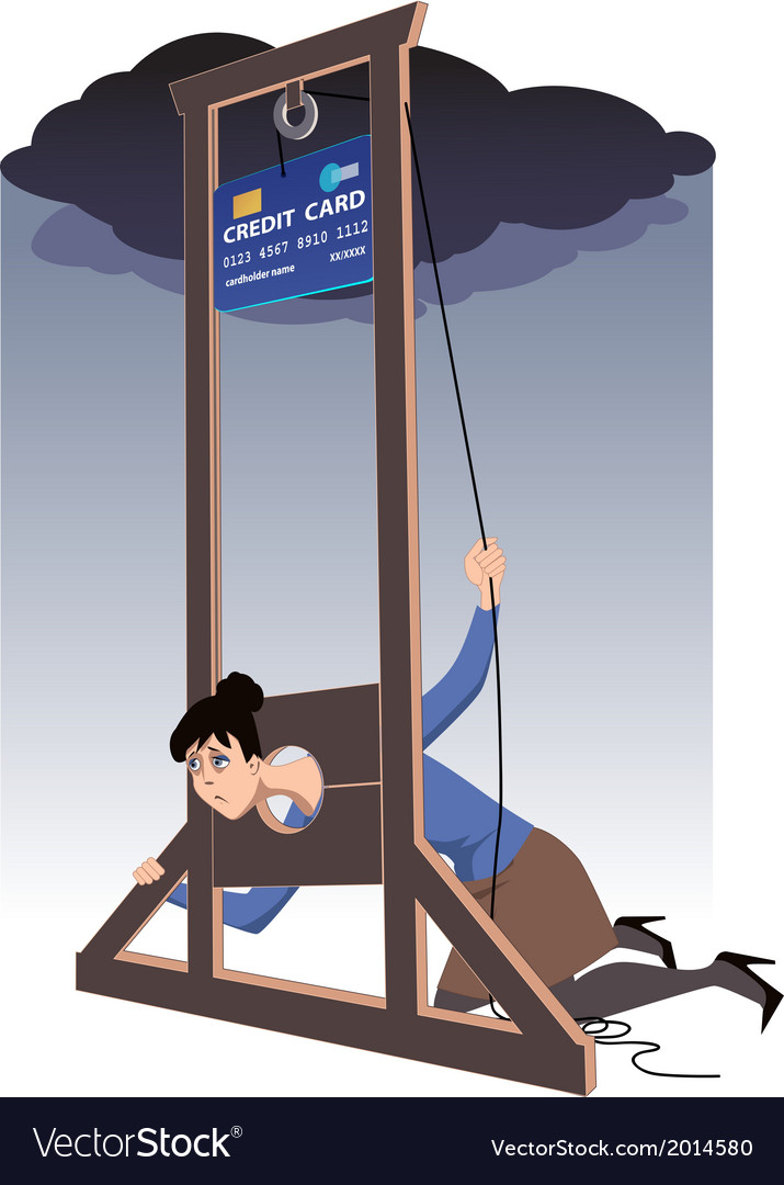 Credit card guillotine vector | Price: 1 Credit (USD $1)