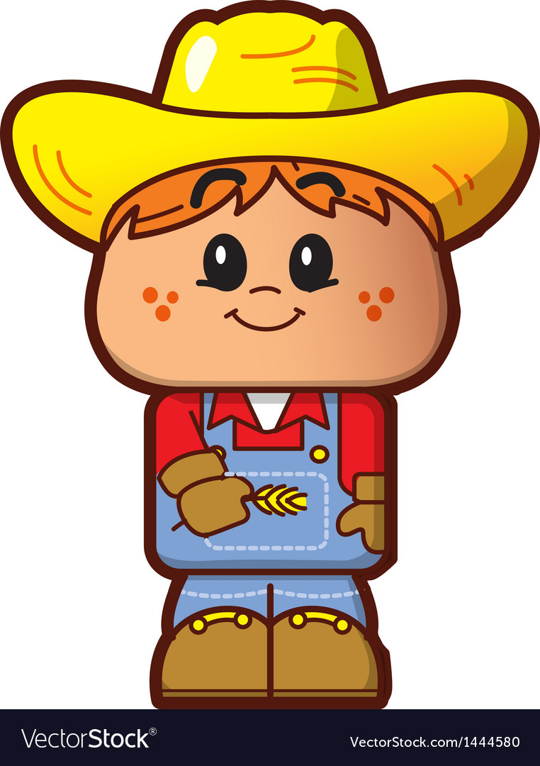 Cute farmer vector | Price: 1 Credit (USD $1)