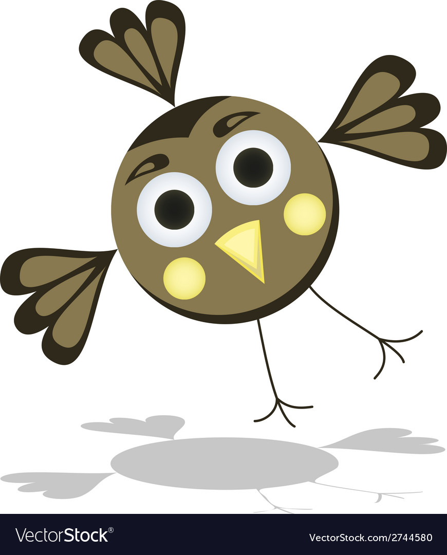 Funny cartoon bird vector | Price: 1 Credit (USD $1)