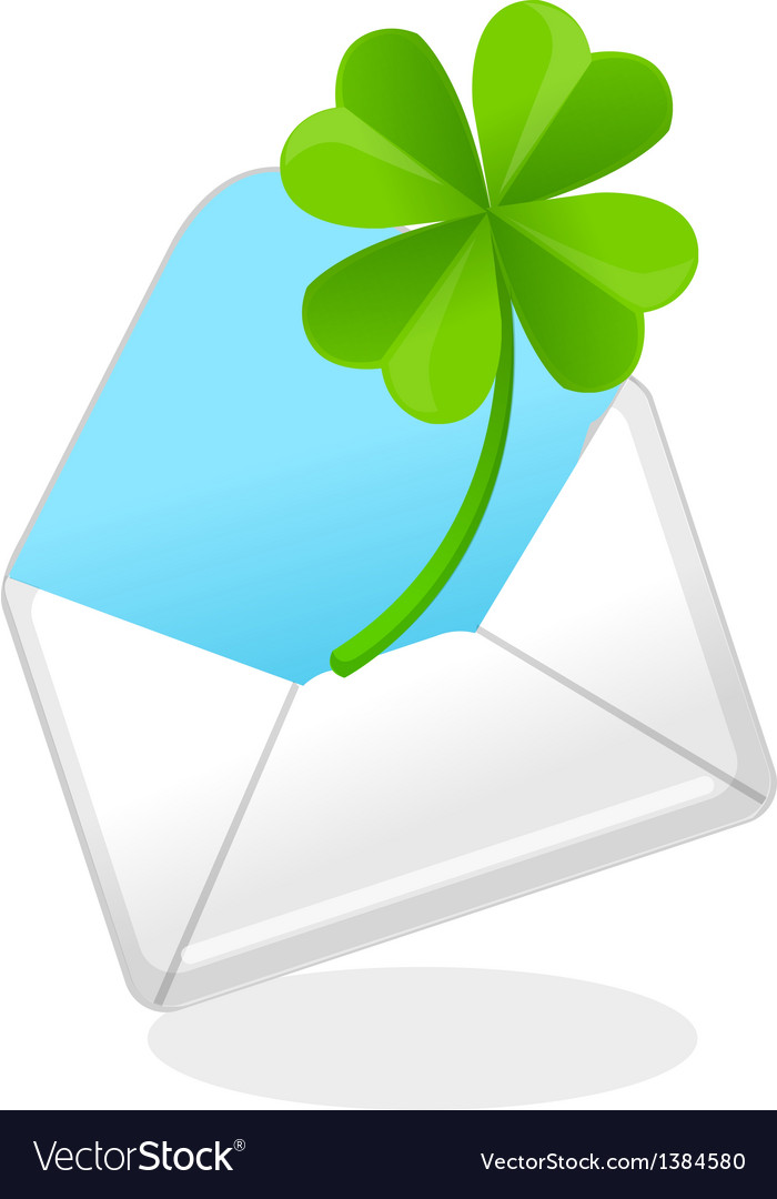 Icon mail and clover vector | Price: 1 Credit (USD $1)