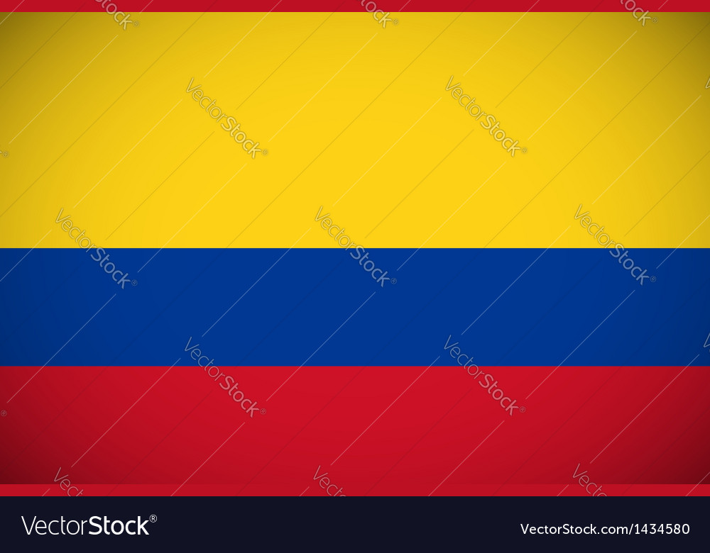 National flag of colombia vector | Price: 1 Credit (USD $1)
