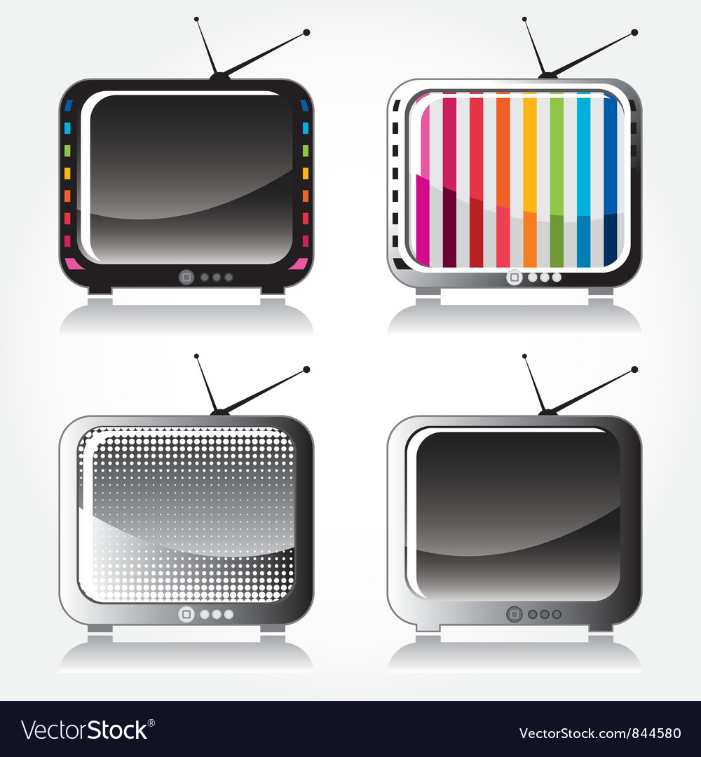 Television set vector | Price: 1 Credit (USD $1)