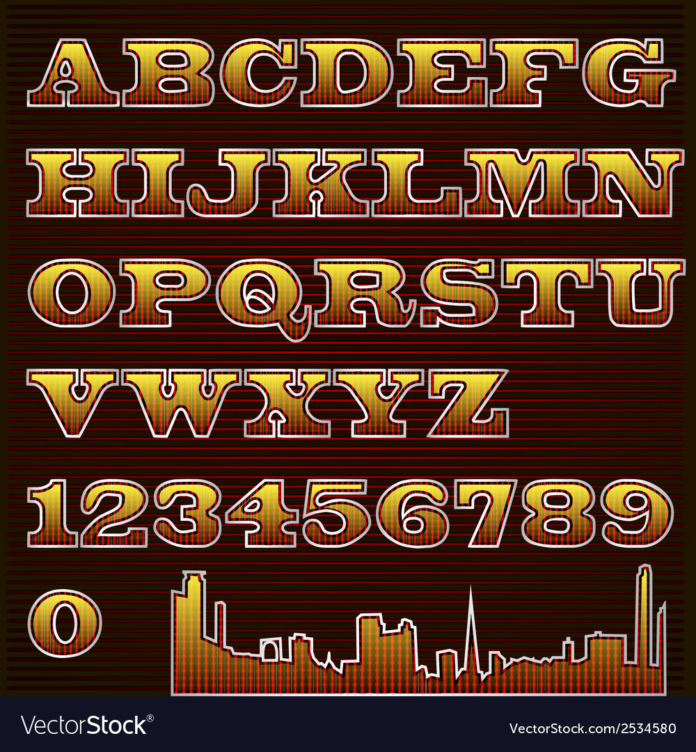 Text font checkered with urban vector | Price: 1 Credit (USD $1)