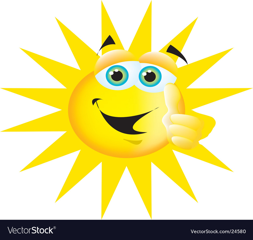 Thumbs up sun vector | Price: 1 Credit (USD $1)