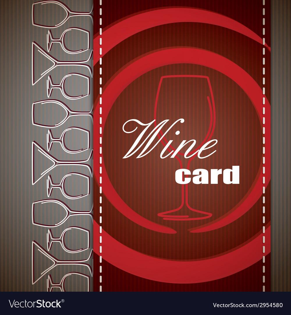Wine card design vector | Price: 1 Credit (USD $1)