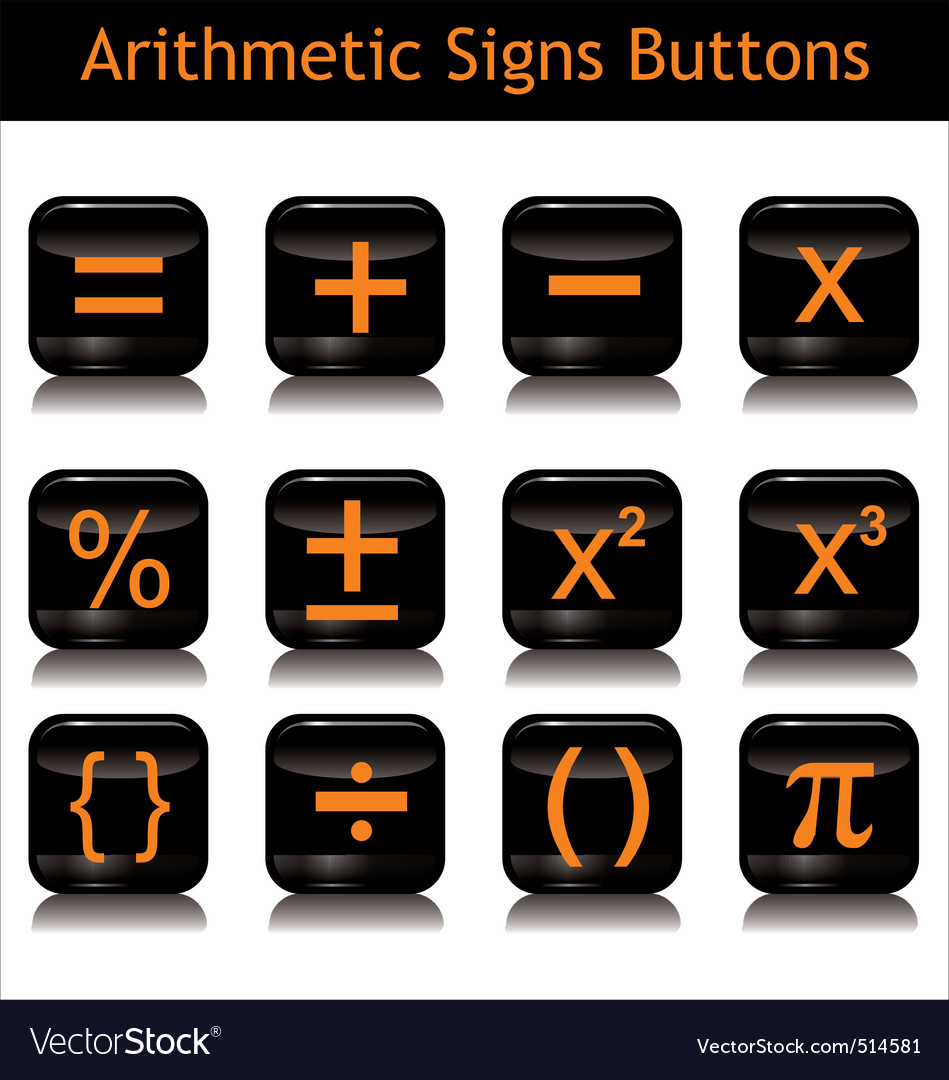 Arithmetic signs buttons vector | Price: 1 Credit (USD $1)
