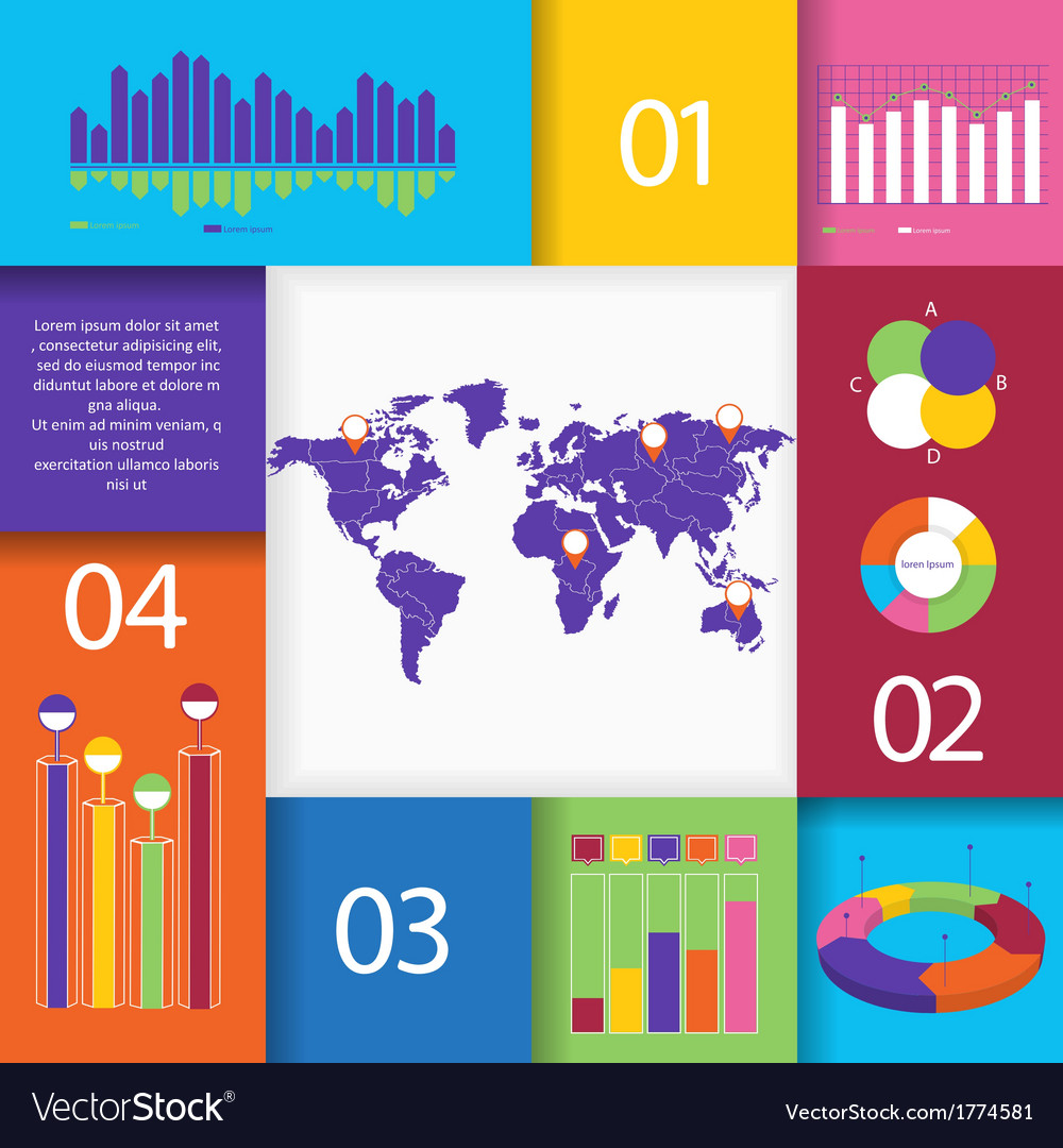 Big set of infographics elements vector | Price: 1 Credit (USD $1)