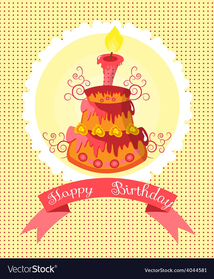 Birthday cake vector   Price: 1 Credit (USD $1)