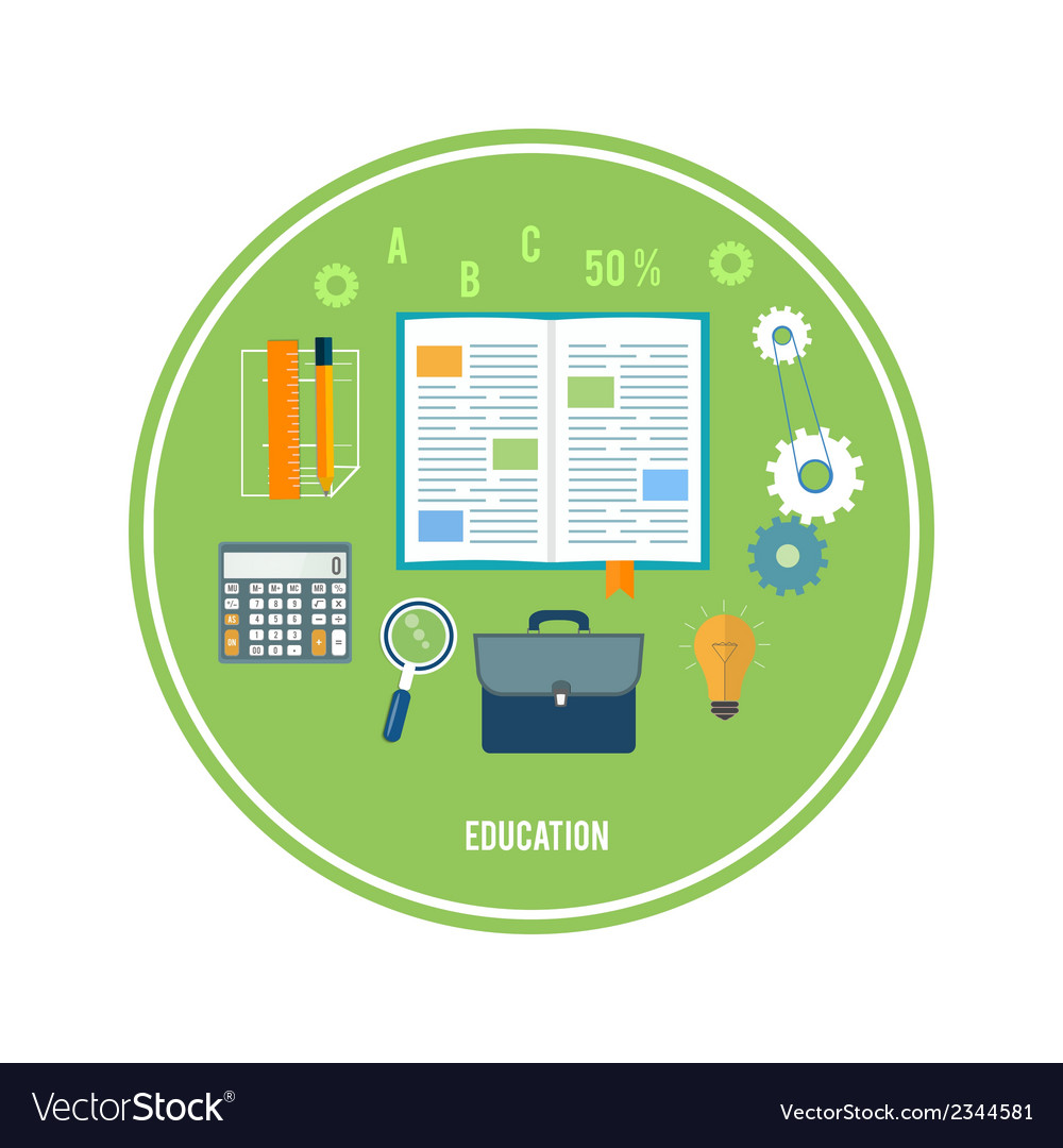 Books and school elements vector | Price: 1 Credit (USD $1)