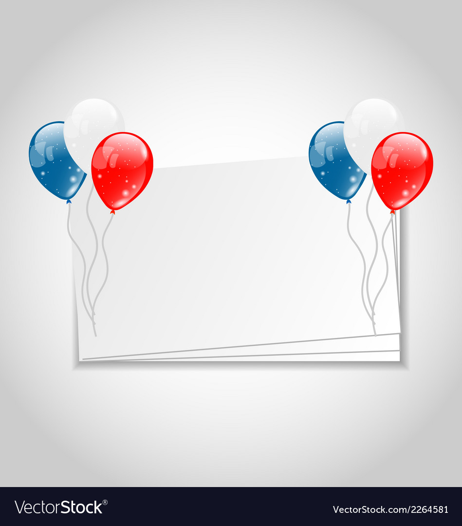 Celebration card with balloons for independence vector | Price: 1 Credit (USD $1)