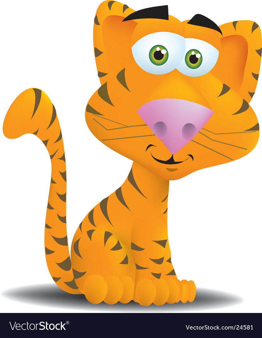 Cute tiger vector | Price:  Credit (USD $)