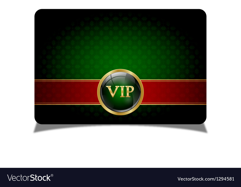 Green vip card vector | Price: 1 Credit (USD $1)