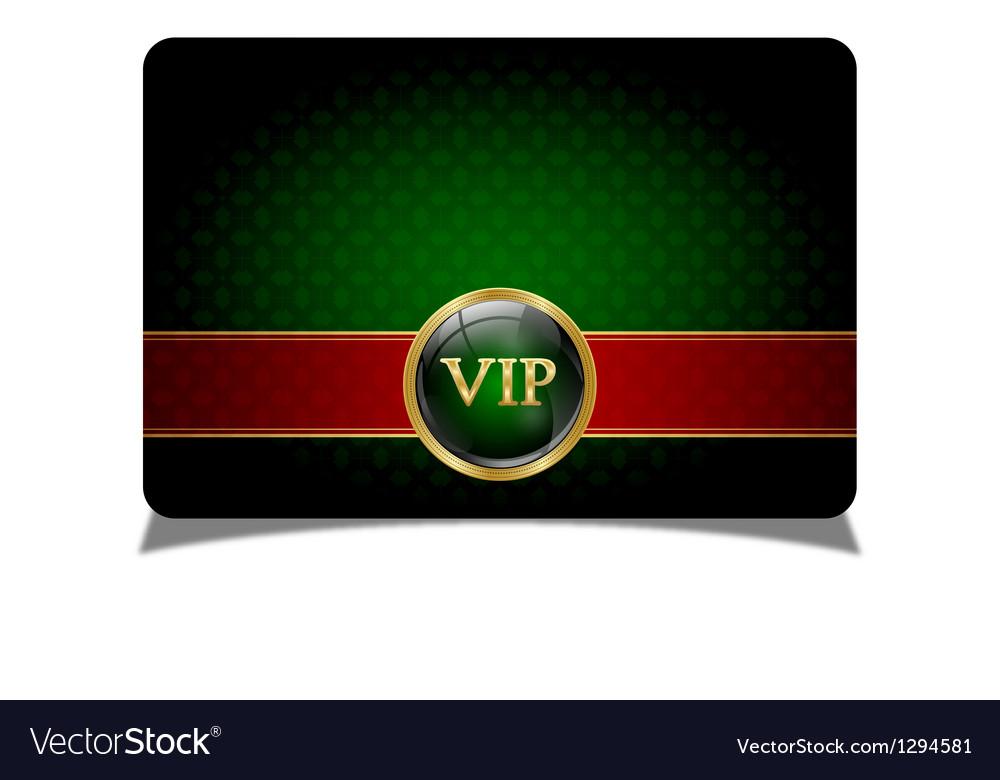 Green vip card vector | Price: 1 Credit (USD $1)