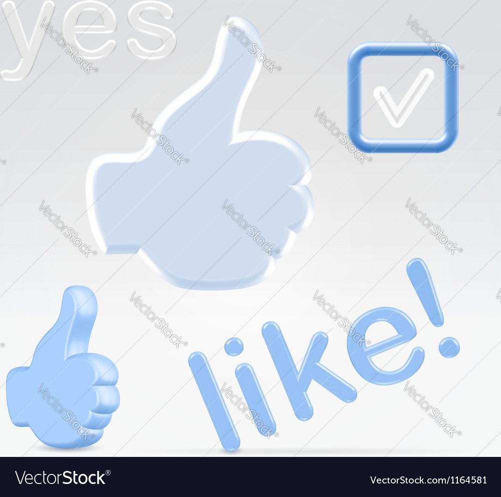 Social network signs of appeciacion vector | Price:  Credit (USD $)