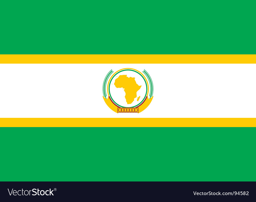 African union flag vector | Price: 1 Credit (USD $1)
