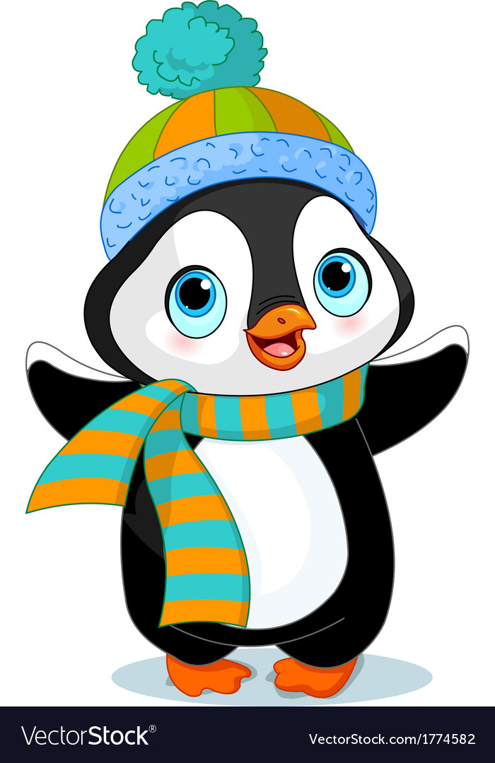 Cute winter penguin vector | Price: 3 Credit (USD $3)