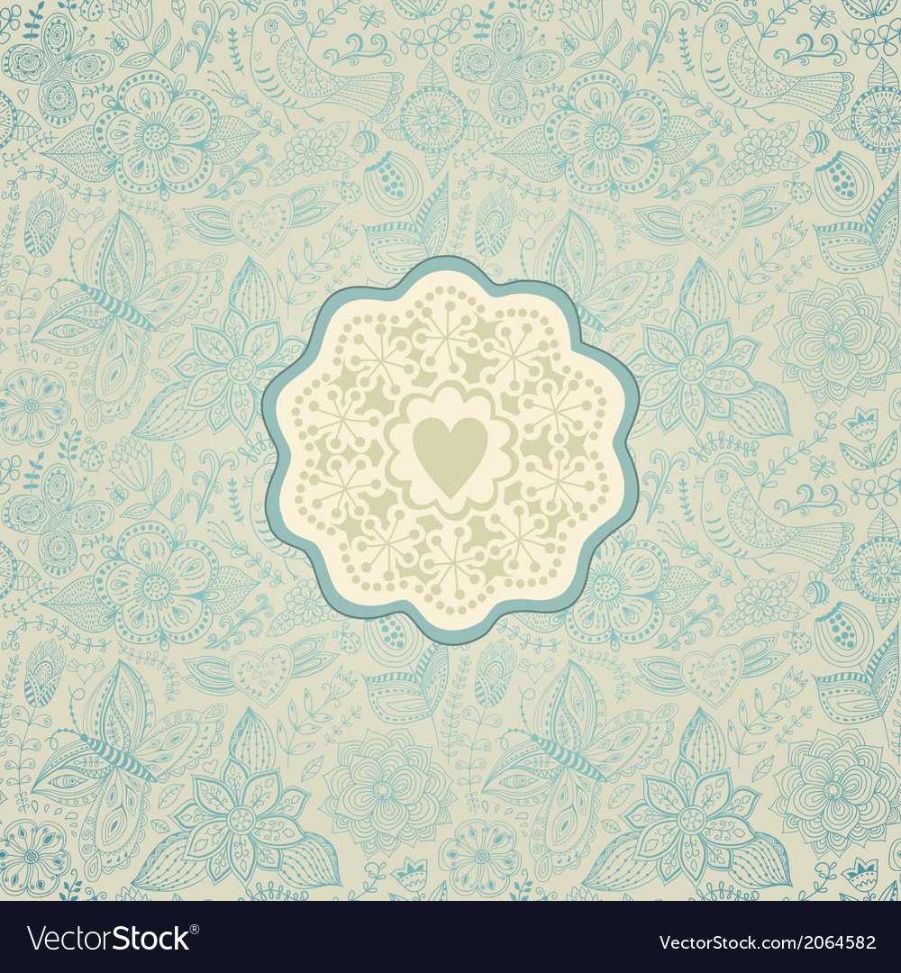 Gorgeous seamless floral background floral vector | Price: 1 Credit (USD $1)