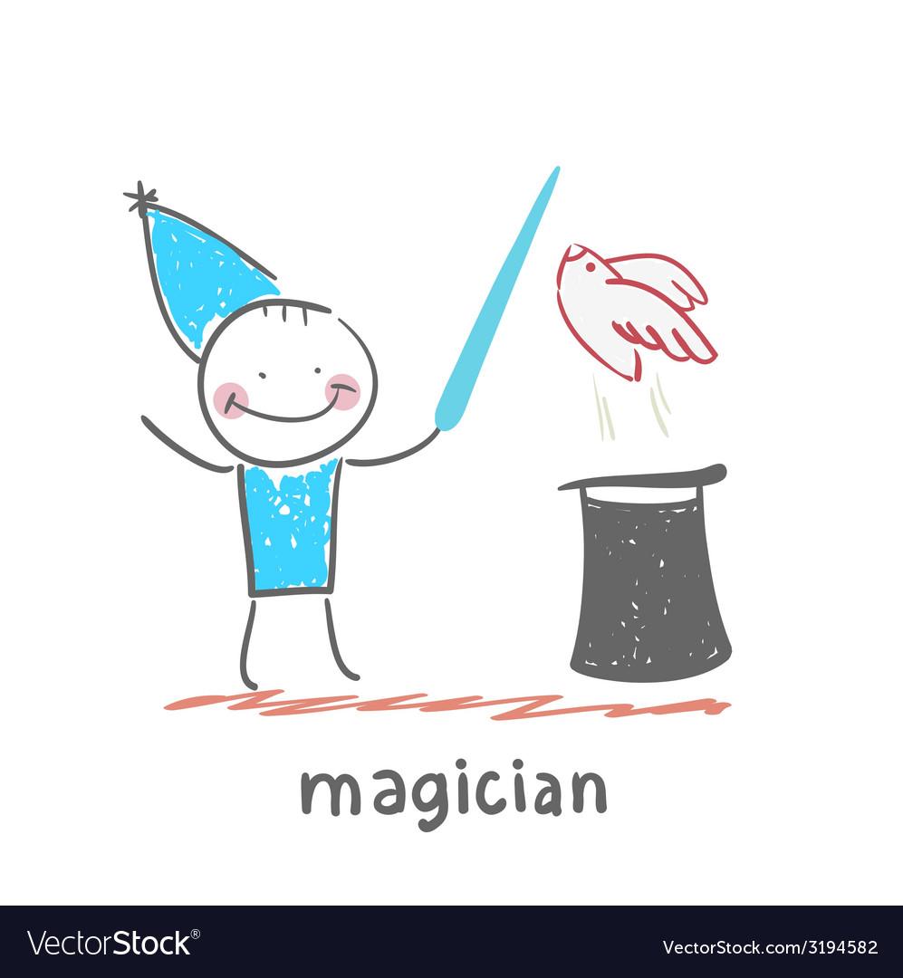 Magician vector | Price: 1 Credit (USD $1)