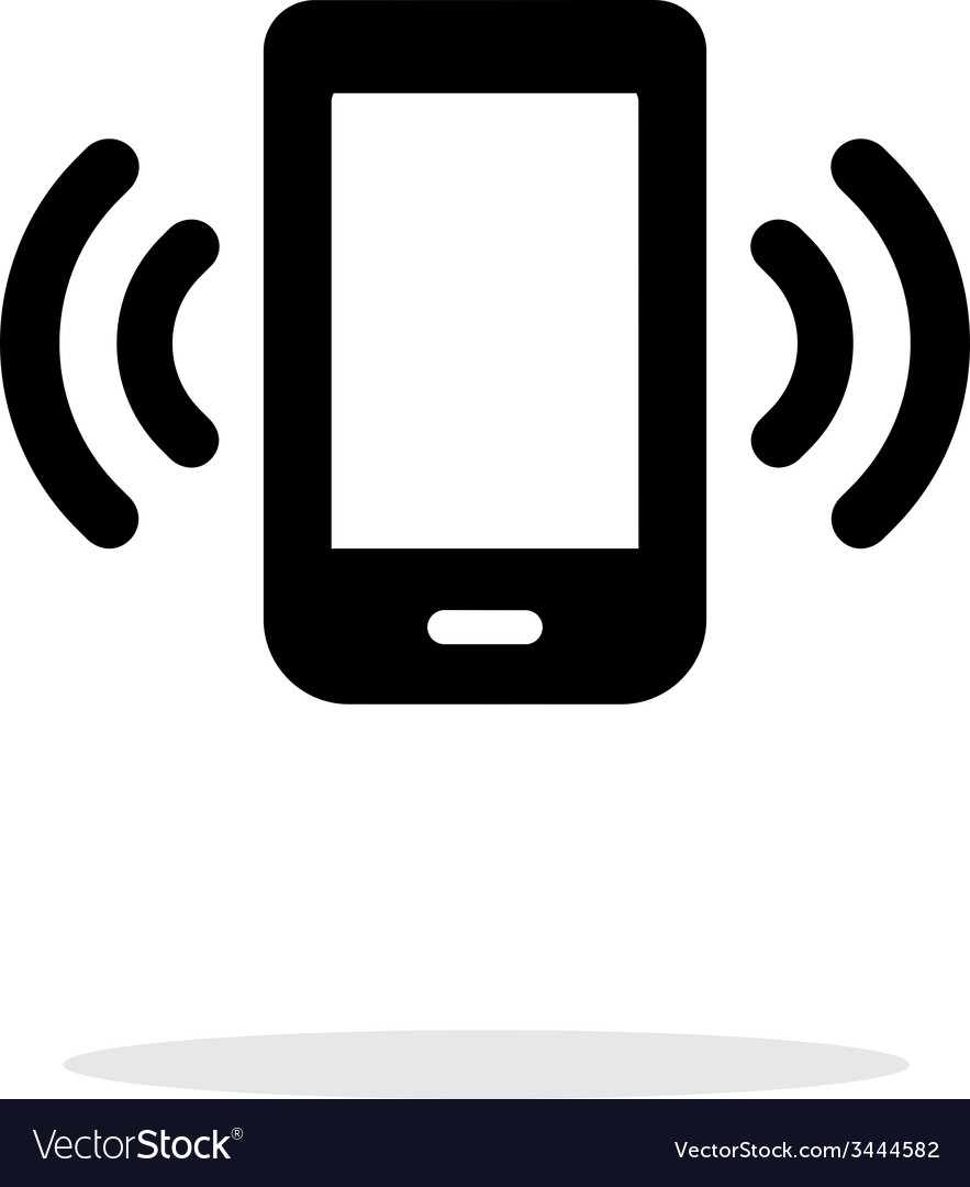 Mobile phone bell icon on white background vector   Price: 1 Credit (USD $1)