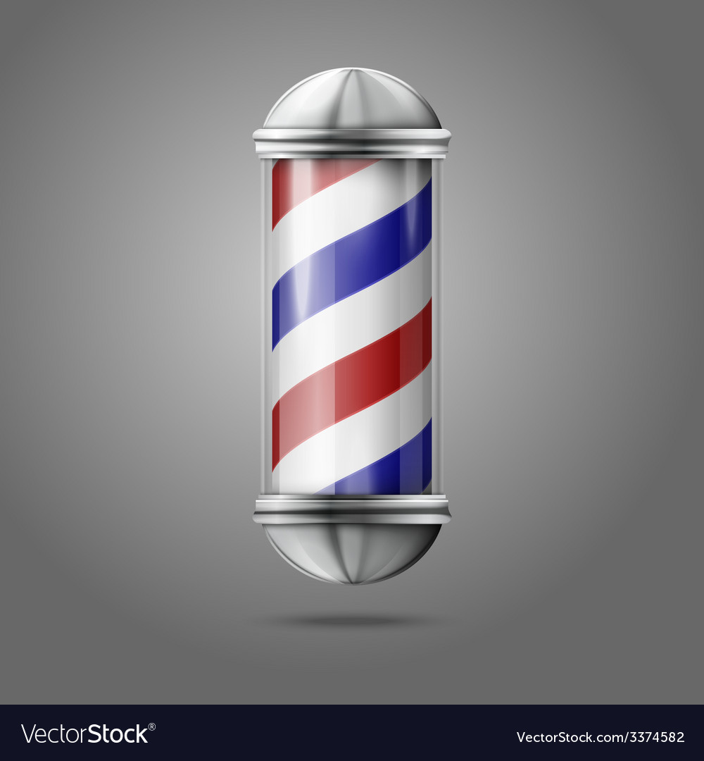 Old fashioned vintage silver glass barber shop vector | Price: 3 Credit (USD $3)