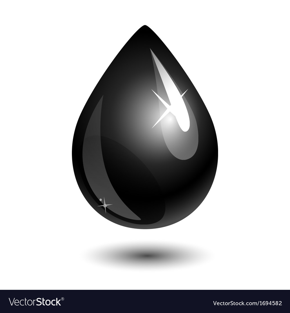 Petroleum drop vector | Price: 1 Credit (USD $1)