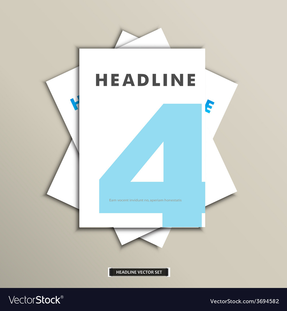 Set of brochures with number on title page vector | Price: 1 Credit (USD $1)