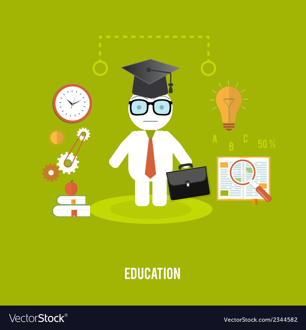 Student with cases goes to school vector | Price: 1 Credit (USD $1)