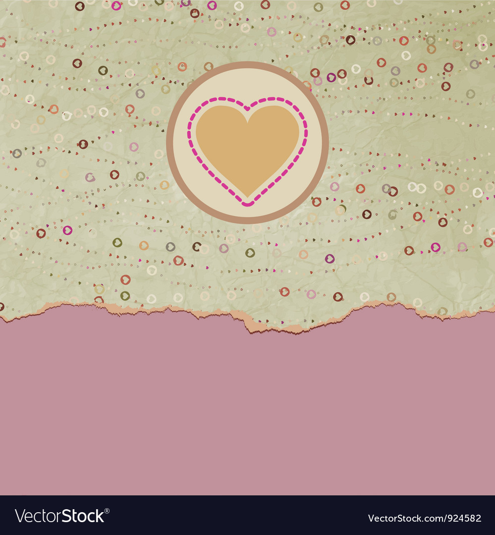 Vintage valentines hearts card vector | Price: 1 Credit (USD $1)