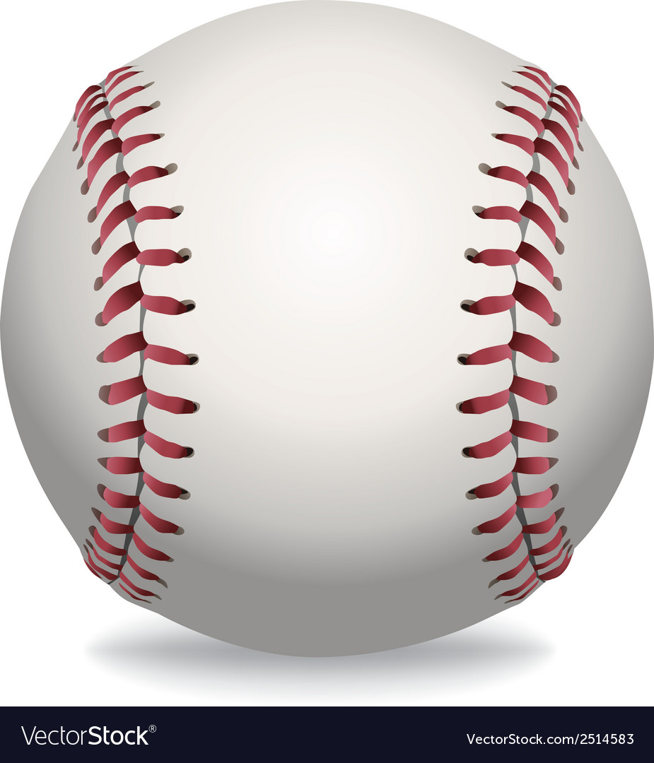 Baseball isolated vector | Price: 1 Credit (USD $1)