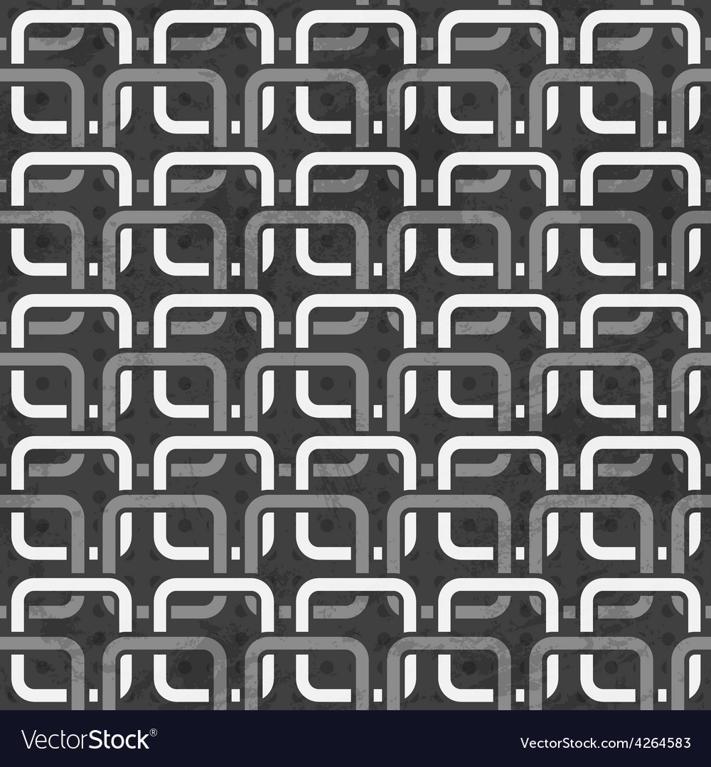 Black and white chains seamless pattern vector | Price: 1 Credit (USD $1)