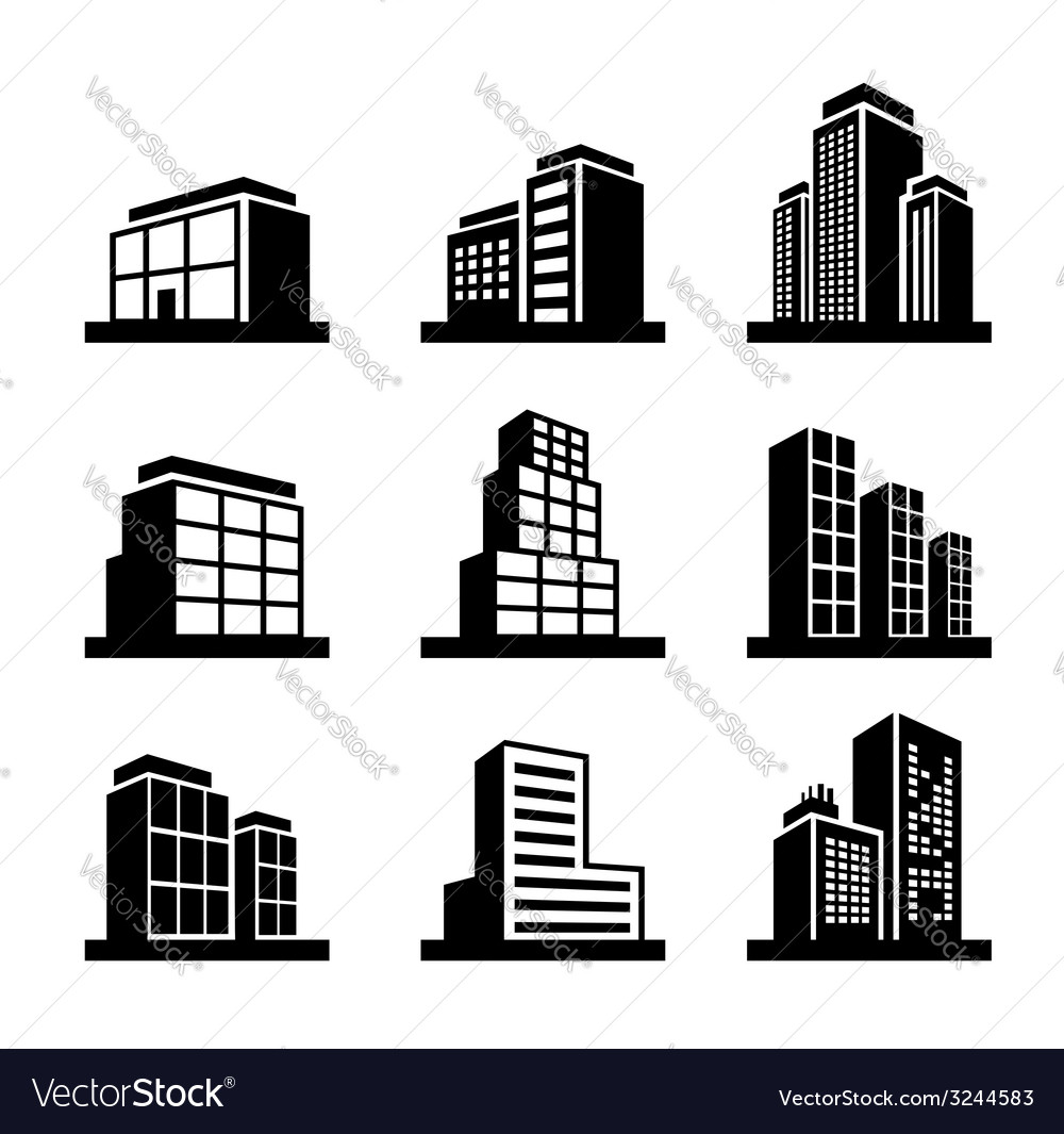 Building icon vector | Price: 1 Credit (USD $1)