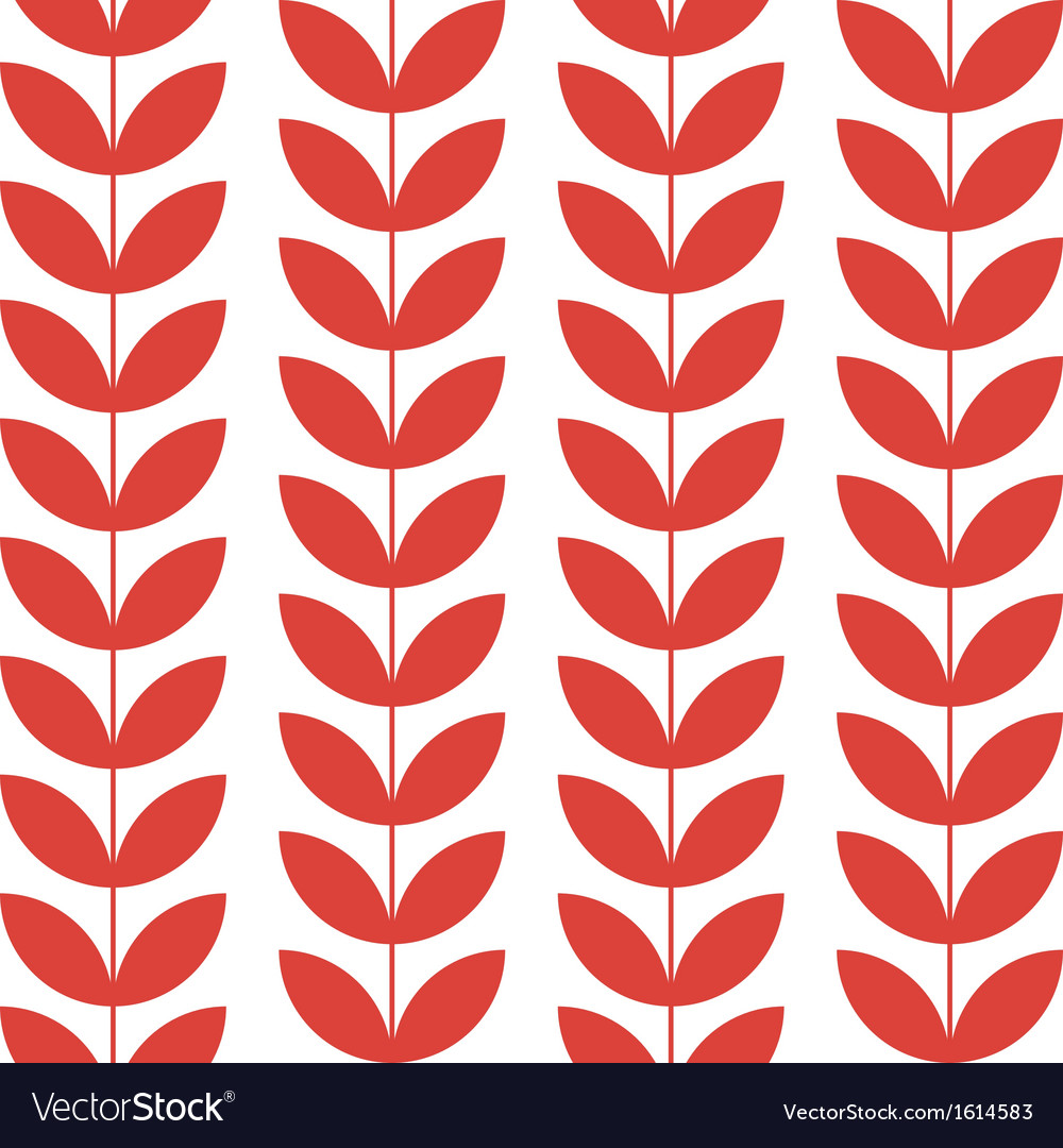 Flower pattern seamless background vector | Price: 1 Credit (USD $1)