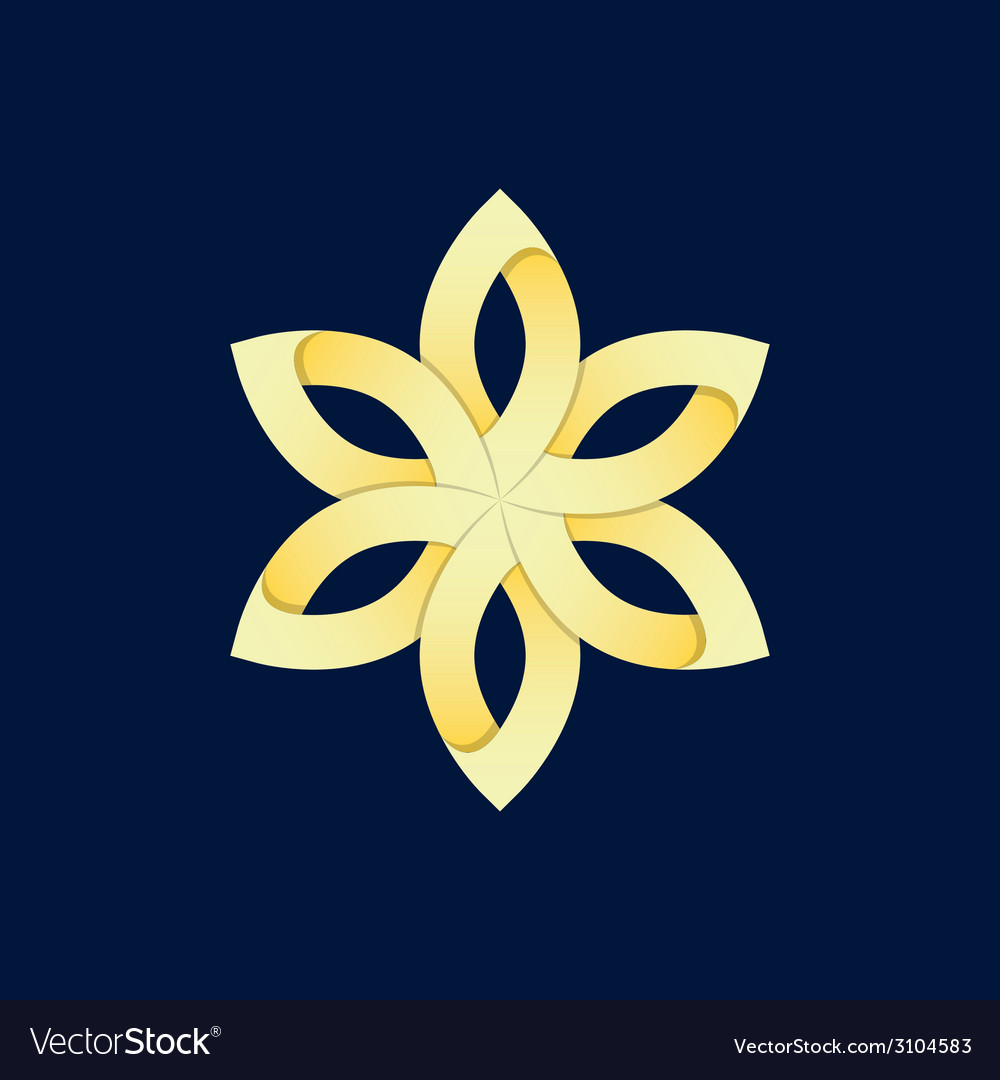 Gold flower vector | Price: 1 Credit (USD $1)